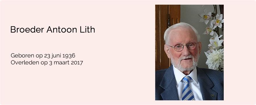 In memoriam broeder Antoon van Lith