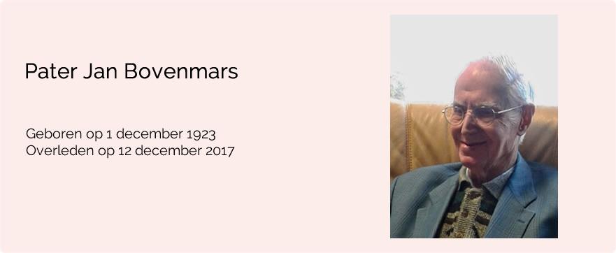 In memoriam pater Jan Bovenmars