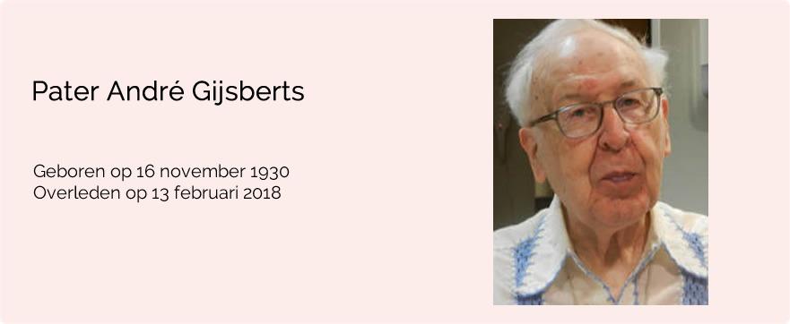 In memoriam pater André Gijsberts