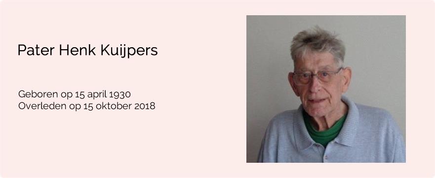 In memoriam pater Henk Kuipers