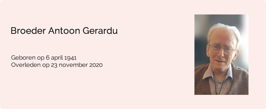In memoriam broeder Antoon Gerardu